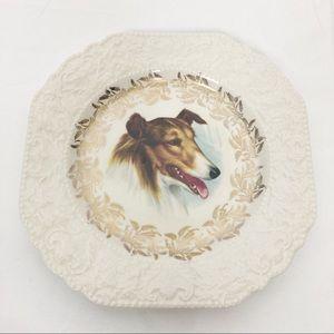3/$25 Vintage cottagecore decorative plate dog